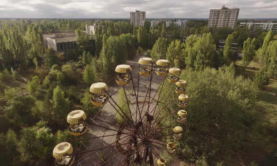 Pripyat, in the Chernobyl Exclusion Zone. Persistently high levels of radiation make the area uninhabitable for thousands of years.