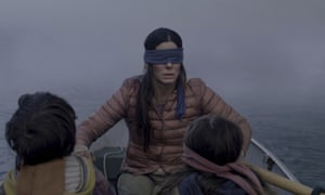 Sandra Bullock in Bird Box, which Netflix says was watched by 45 million subscriber accounts in its first week on the service.