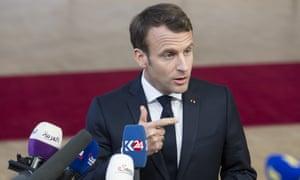 French president Emmanuel Macron in Brussels.