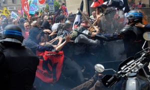 Some of the protests turned violent.