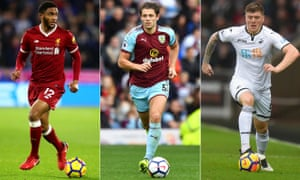 Joe Gomez, James Tarkowski and Alfie Mawson all are vying for a place in the England defence.
