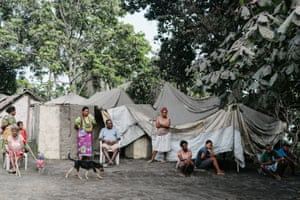 Residents of a temporary evacuation site at Lone, West Ambae. Hours later, the community learned that evacuation of their island had changed from voluntary to mandatory, due to continuing ash fall from the Manaro Volcano. This is the second mandatory evacuation in 12 months, the first being in September 2017 when a State of Emergency was declared on Ambae and the alert level raised from three to four.