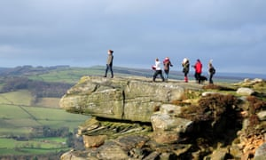 Spectacular views from Curbar Edge in the Peak District