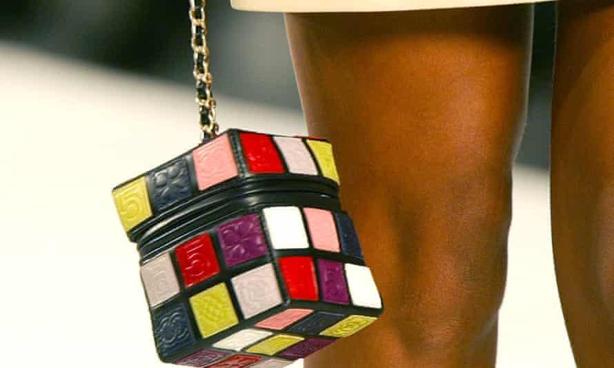 A Chanel handbag in a Rubik cube style