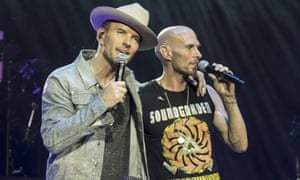 Matt (left) and Luke Goss perform at the O2 Arena in London