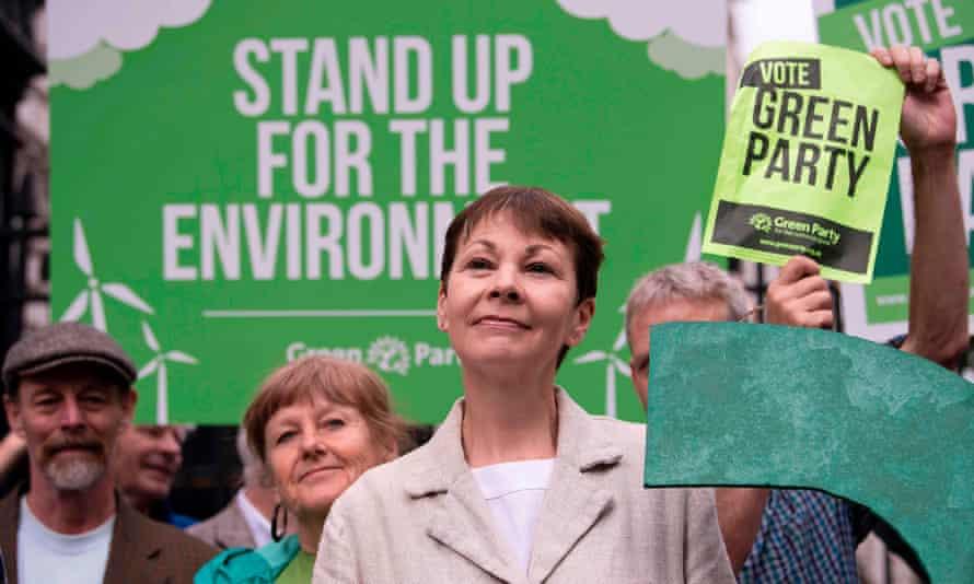 Green leader Caroline Lucas campaigning in London.