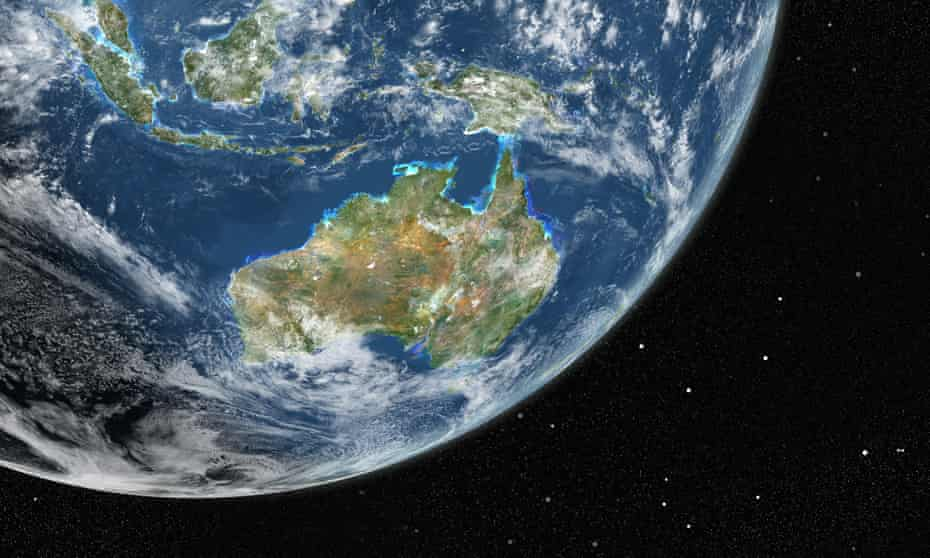 Globe Centred On Asia And Oceania, True Colour Satellite Image
