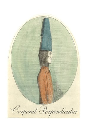 Mary Darly Corporal Perpendicular 1775 Hand-coloured etching on paper Mary Darly was among the first professional caricaturists in England. In 1762 she published the first manual on drawing caricature at her shop near Leicester Square.