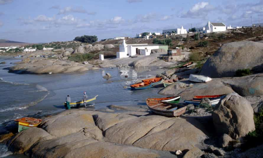Going coastal: the small village of Paternoster with fishing skiffs pulled up on to the beach.