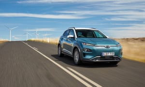 A Hyundai Kona electric vehicle. Australia's sales od electric vehicles tripled in 2019 and the network of charging stations is also growing.