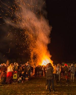 Bonfire at the Huon Valley Mid-Winter Festival