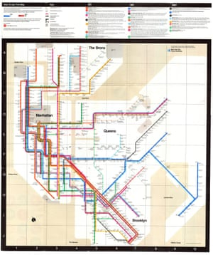 Subway System Map (1978) by Massimo Vignelli