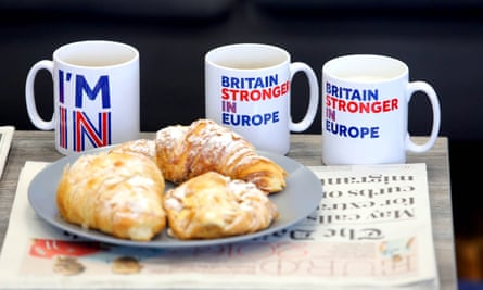 'Britain Stronger in Europe' mugs produced ahead of the 2016 referendum.