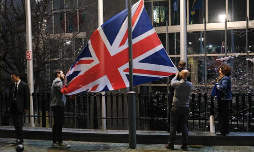 Union flag taken down