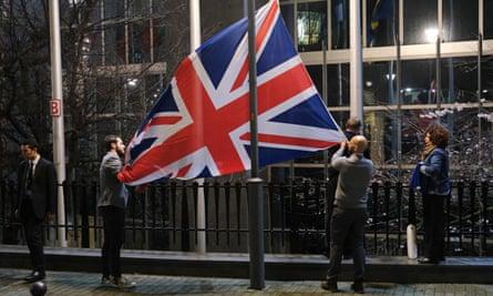 Union flag taken down