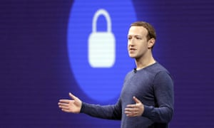 Facebook's CEO Mark Zuckerberg addresses a conference in California