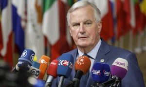 Michel Barnier at the EU summit in Brussels yesterday.