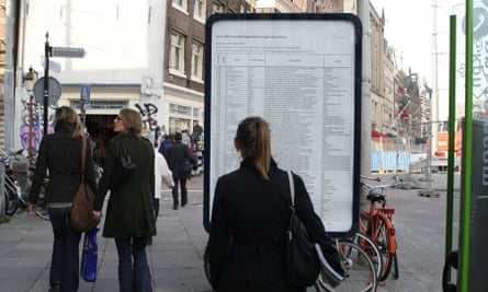 Earlier versions of The List have appeared in other locations, including Amsterdam.