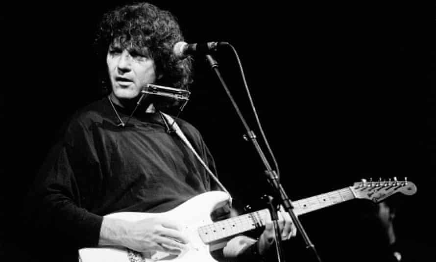 Tony Joe White performing in Amsterdam in 1991. He became more popular in Europe than in his native US.