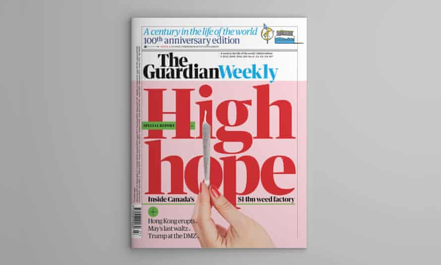 Cover of Guardian Weekly magazine 100th anniversary edition - 5 July 2019