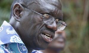 Kizza Besigye, leader of Uganda's leading opposition party, Forum for Democratic Change.