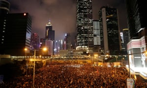 Hong Kong's central streets were packed with protesters calling for the total withdrawal of a controversial extradition law.