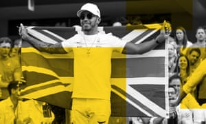 Lewis Hamilton celebrates winning the Formula One drivers' championship at the Mexican Grand Prix.