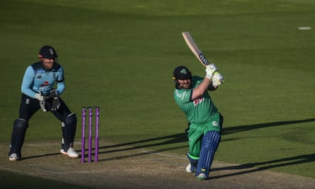 Paul Stirling goes on the attack during his 142 as he led Ireland to victory over England