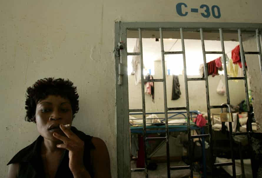 An inmate in the women's jail in Port-au-Prince, Haiti.