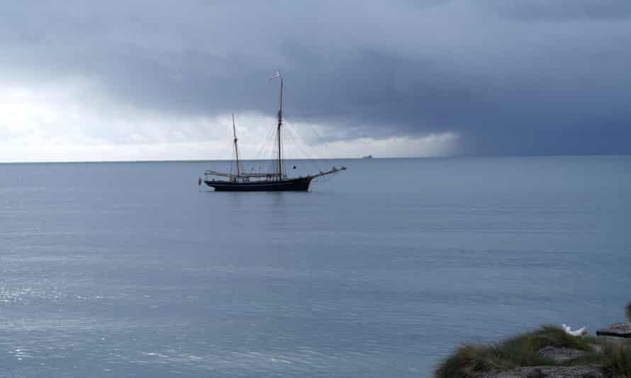 The Bessie Ellen in stormy weather