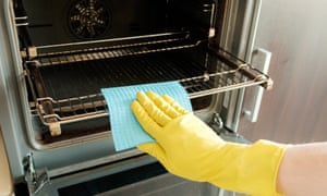 Bicarbonate of soda and water can work as oven cleaner.