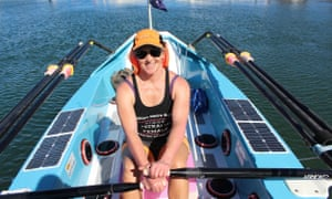 Sydney woman Michelle Lee, who has become the first Australian woman to cross an ocean solo in a rowboat, says she battled a cut on her hand that wouldn't heal, diarrhoea, a broken rudder and a pipi infestation.