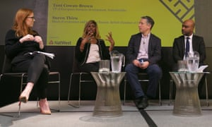 Panel (L-R): Toni Cowan-Brown, VP of European business development, Nationbuilder; Antonia Burrell, founder, Antonia Burrell holistic skincare; Phillip Inman, economics editor, The Observer (chair); Suren Thiru, head of economics and business finance, British Chamber of Commerce.