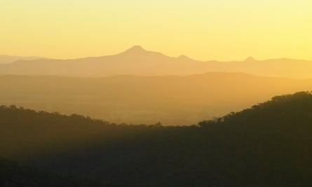 Bushland and mountains at Mount Tamborine, Queensland