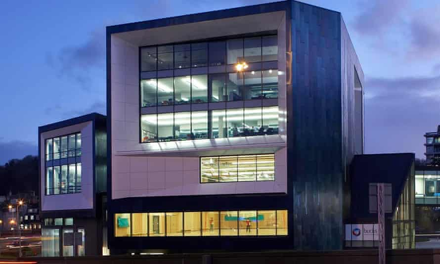 The Gateway Building which comprises a learning resource and technology centre, events hall, gym, sports science laboratory and video production studios.
