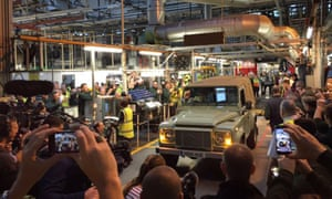 The last Land Rover Defender comes off the production line.