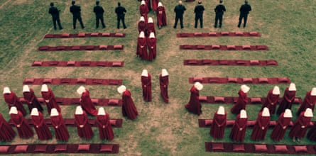 Theocratic state … in The Handmaid's Tale, a Christian sect call the Sons of Jacob take over.