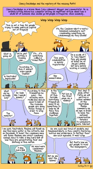 First Dog on the Moon cartoon about the Australian media and the Grand Mufti.