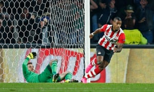 Luciano Narsingh wheels away after heading home.