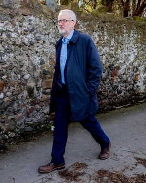 Jeremy Corbyn canvassing in Morecambe.