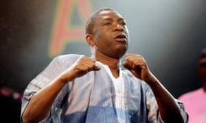 Senegalese singer Youssou N'dour performing at Womad