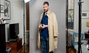 Tim Dowling shoulder robes his coat