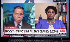 Stacey Abrams speaks to Jake Tapper of CNN.