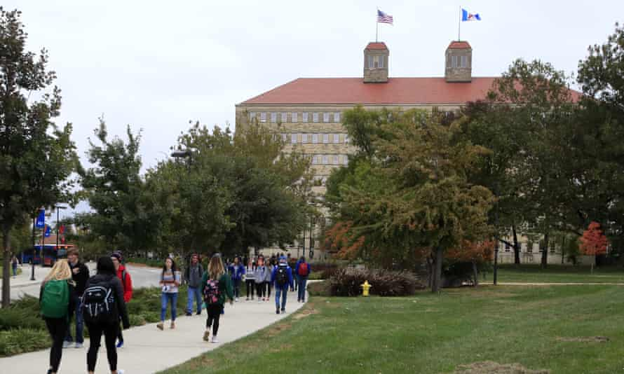 Fraser Hall on the University of Kansas campus in Lawrence.
