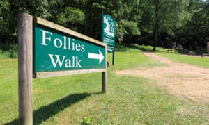 Sign at the start of the Follies Walk