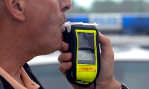 Close up of a police breathalyser.