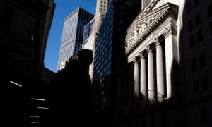 The New York Stock Exchange today, where shares are up