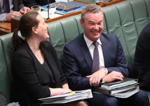 Leader of the house Christopher Pyne and minister for revenue and financial services Kelly O'Dwyer