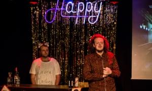 Jack Rooke, right, in Happy Hour at the 2017 Edinburgh fringe.