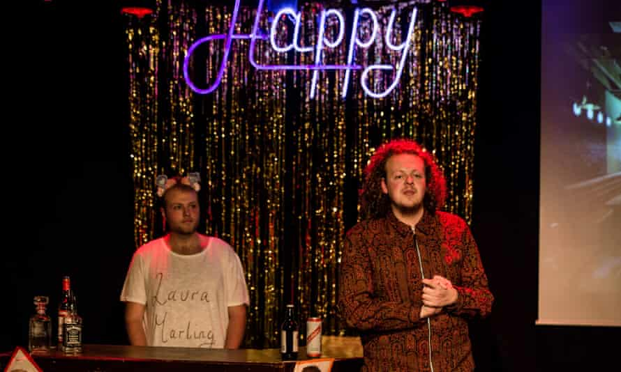Jack Rooke, right, in Happy Hour at the 2017 Edinburgh fringe.